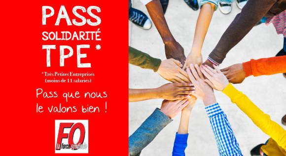 Pass Solidarité TPE : Pass que nous le valons bien